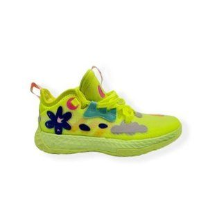 Adidas Boys Harden Vol.5 J Round Toe Lime Shoes